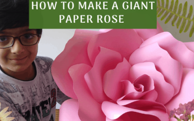 How To Make a Giant Paper Rose Easily ?