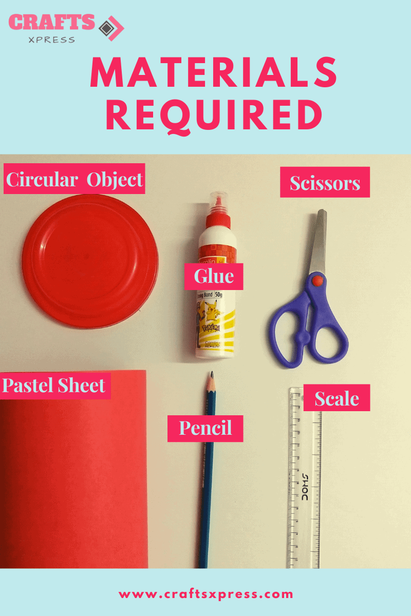 materials required for rolled paper roses