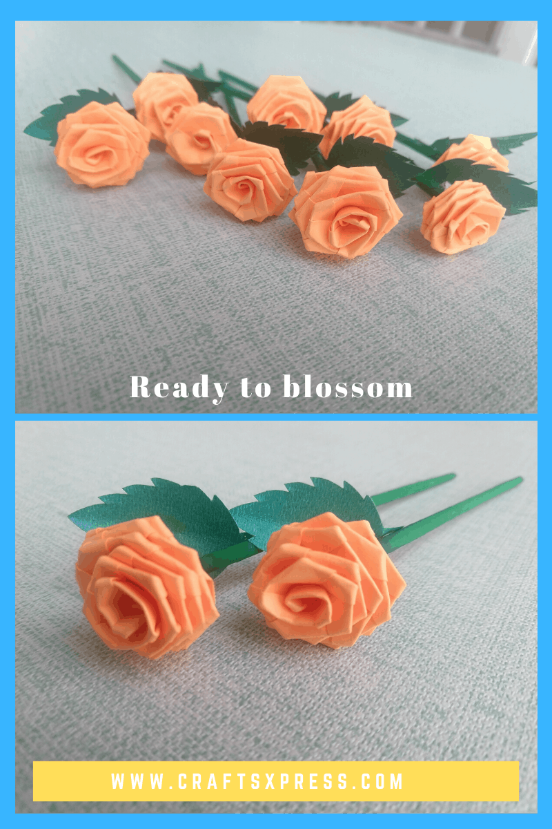 pretty small rose using paper strips