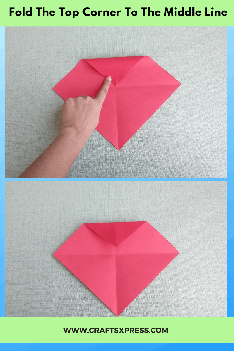 fold top corner to the central line