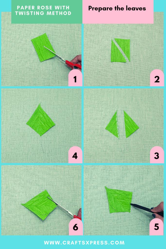 prepare the paper leaves