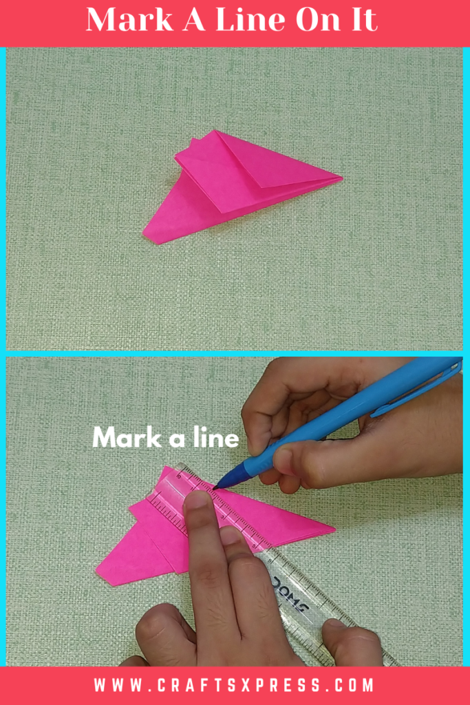 draw a line on the folded paper star