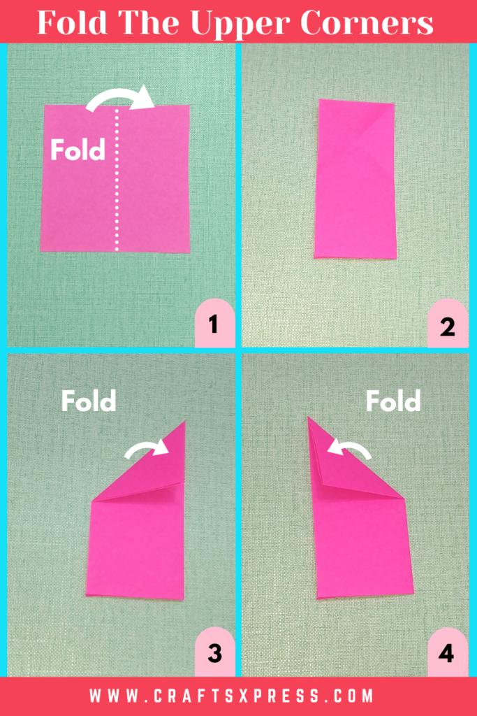 fold the square into half